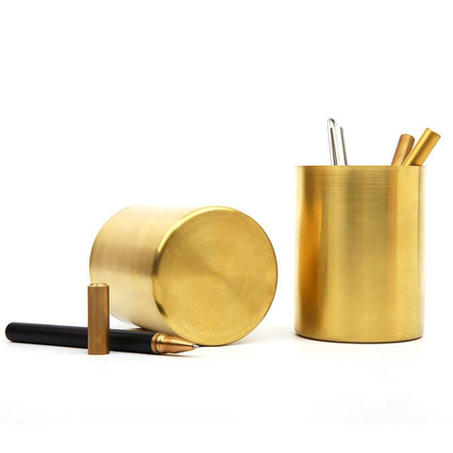 Milled Brass Pen Holder, , Clean minimal gifts for designers and creatives, gift, design, designer - Gifts for Designers