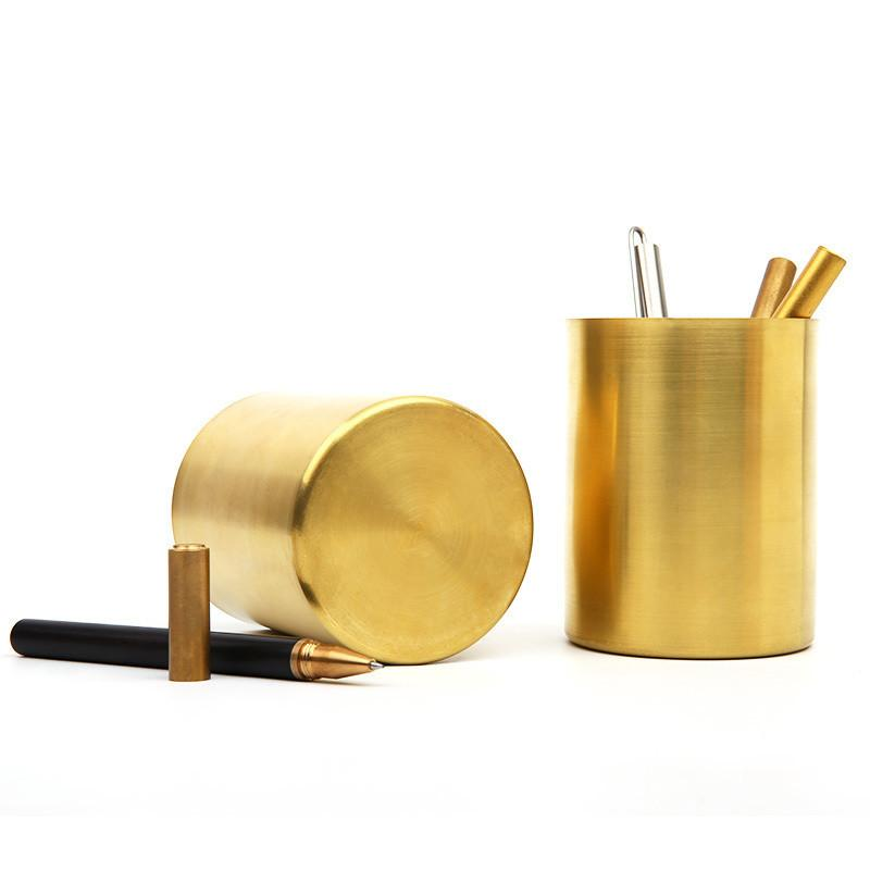 Milled Brass Pen Holder, , Gifts for Designers, Clean minimal gifts for designers and creatives, gift, design, designer - Gifts for Designers, Gifts for Architects