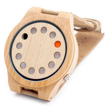 BOBO BIRD 12 Holes Watches Red Black Pointer Bamboo Watch, , Clean minimal gifts for designers and creatives, gift, design, designer - Gifts for Designers, 100+ Awesome Holiday Gifts for Designers