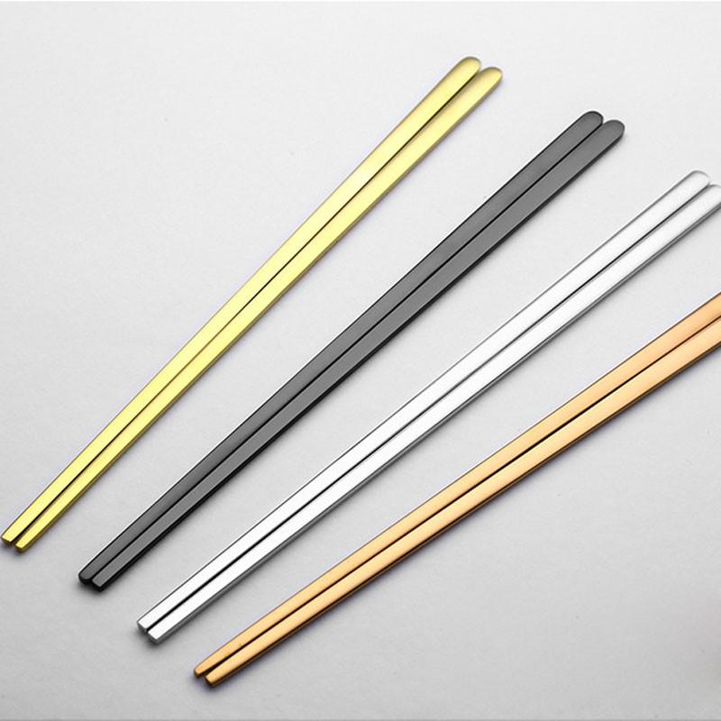 High Quality 304 Stainless Steel Titanium Plated Chopsticks, Home Goods, Gifts for Designers, Clean minimal gifts for designers and creatives, gift, design, designer - Gifts for Designers, Gifts for Architects
