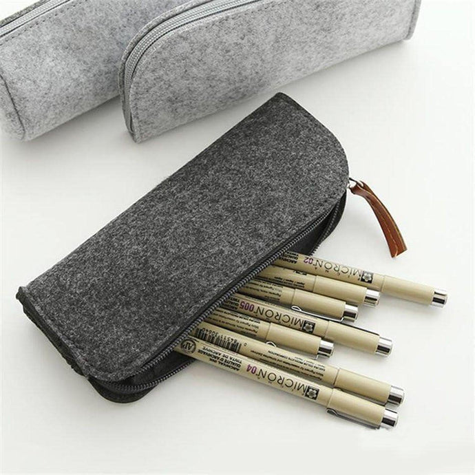 zipper Wool felt pencil case, , Clean minimal gifts for designers and creatives, gift, design, designer - Gifts for Designers