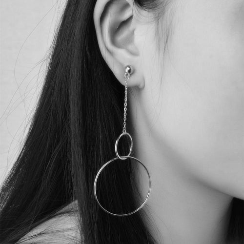 Hanging Circle Earrings, , Gifts for Designers, Clean minimal gifts for designers and creatives, gift, design, designer - Gifts for Designers, Gifts for Architects