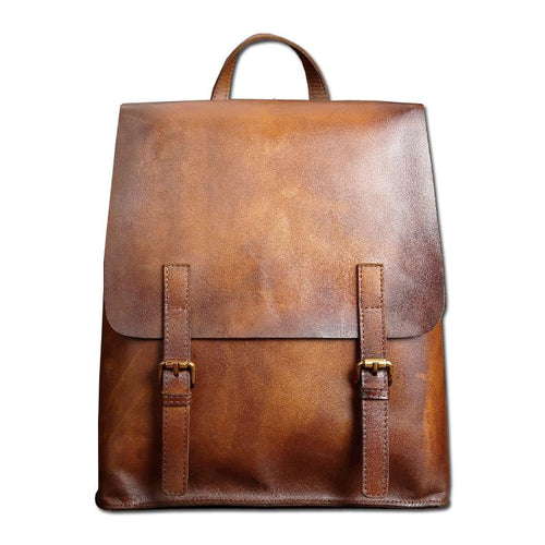 Distressed Genuine Leather Backpack, , Gifts for Designers, Clean minimal gifts for designers and creatives, gift, design, designer - Gifts for Designers, Gifts for Architects