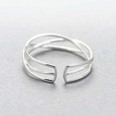 Woven Wire Sterling Silver Ring, , Gifts for Designers, Clean minimal gifts for designers and creatives, gift, design, designer - Gifts for Designers, Gifts for Architects