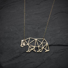 Geometric Bear Necklace, , Gifts for Designers, Clean minimal gifts for designers and creatives, gift, design, designer - Gifts for Designers, Gifts for Architects