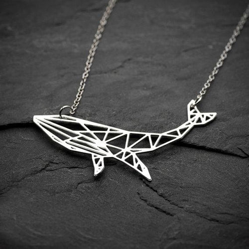 Geometric Whale Necklace, , Gifts for Designers, Clean minimal gifts for designers and creatives, gift, design, designer - Gifts for Designers, Gifts for Architects
