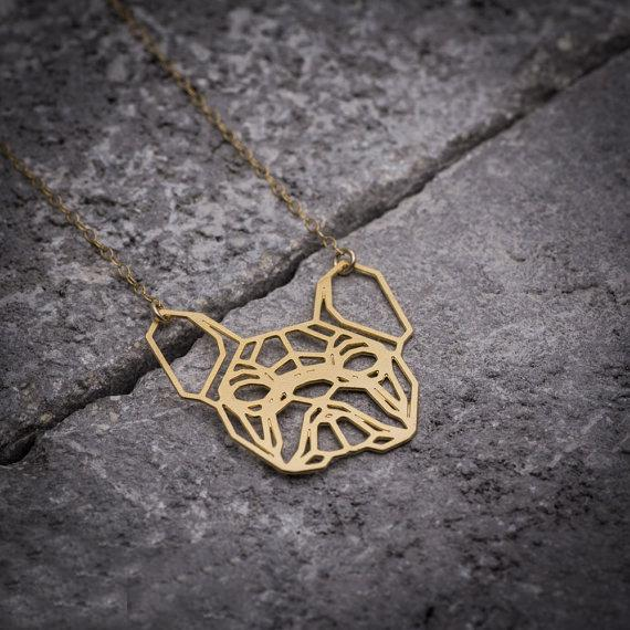 Geometric Bulldog Necklace, , Gifts for Designers, Clean minimal gifts for designers and creatives, gift, design, designer - Gifts for Designers, Gifts for Architects