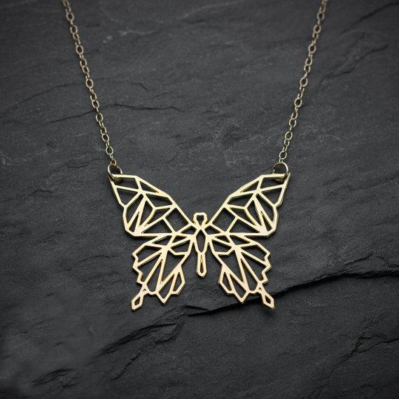 Geometric Butterfly Necklace, , Gifts for Designers, Clean minimal gifts for designers and creatives, gift, design, designer - Gifts for Designers, Gifts for Architects