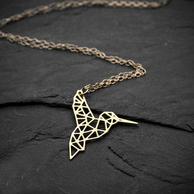 Geometric Hummingbird Necklace, , Gifts for Designers, Clean minimal gifts for designers and creatives, gift, design, designer - Gifts for Designers, Gifts for Architects