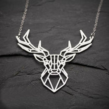 Geometric Deer Necklace, , Gifts for Designers, Clean minimal gifts for designers and creatives, gift, design, designer - Gifts for Designers, Gifts for Architects