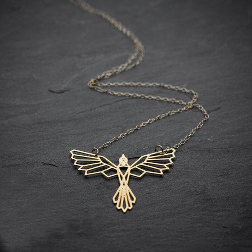 Geometric Phoenix Necklace, , Gifts for Designers, Clean minimal gifts for designers and creatives, gift, design, designer - Gifts for Designers, Gifts for Architects