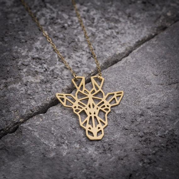 Geometric Giraffe Necklace, , Gifts for Designers, Clean minimal gifts for designers and creatives, gift, design, designer - Gifts for Designers, Gifts for Architects