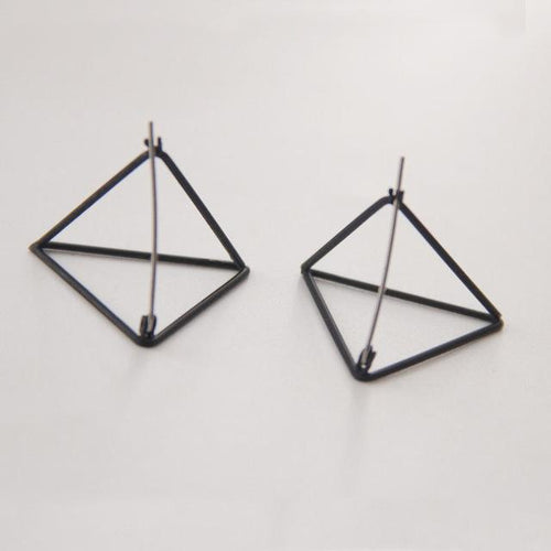 Geometric Pyramid Earrings, , Gifts for Designers, Clean minimal gifts for designers and creatives, gift, design, designer - Gifts for Designers, Gifts for Architects