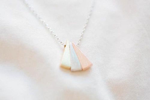 3 Triangle Minimalist Choker Necklace