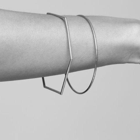 Geometric Metal Bangles, , Gifts for Designers, Clean minimal gifts for designers and creatives, gift, design, designer - Gifts for Designers, Gifts for Architects