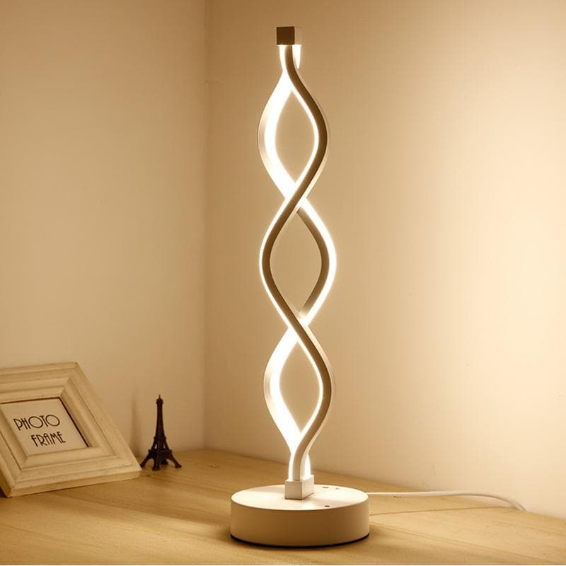 Modern Spiral Table Lamp, , Gifts for Designers, Clean minimal gifts for designers and creatives, gift, design, designer - Gifts for Designers, Gifts for Architects