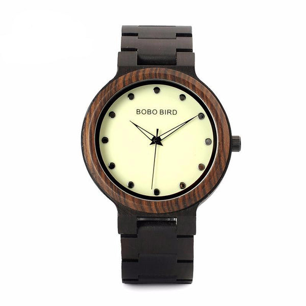 Wood Watch for Men with Luminous Hands, , Gifts for Designers, Clean minimal gifts for designers and creatives, gift, design, designer - Gifts for Designers, Gifts for Architects