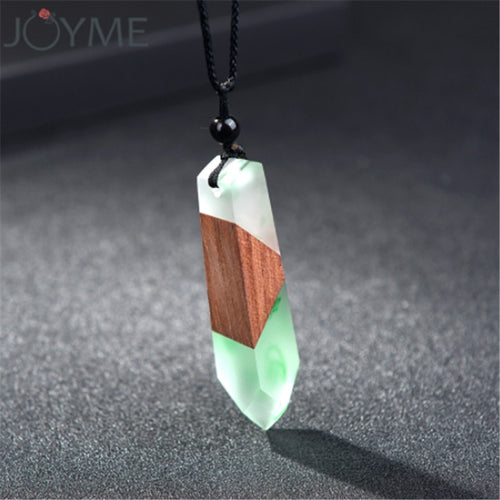 Handmade Wood and Resin Necklace