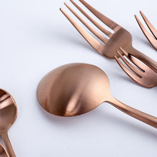 Modern Rose Gold Cutlery Set (Sold by Piece), , Gifts for Designers, Clean minimal gifts for designers and creatives, gift, design, designer - Gifts for Designers, Gifts for Architects
