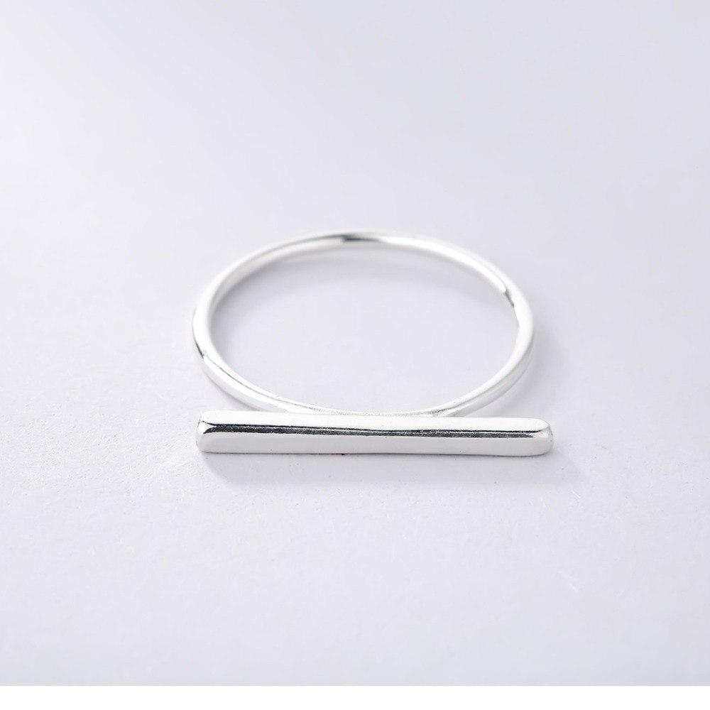 Minimalist 925 Sterling Silver Simple Bar Ring, , Gifts for Designers, Clean minimal gifts for designers and creatives, gift, design, designer - Gifts for Designers, Gifts for Architects