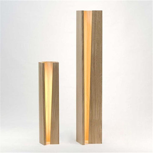 Modern Wood Slit Table Lamp