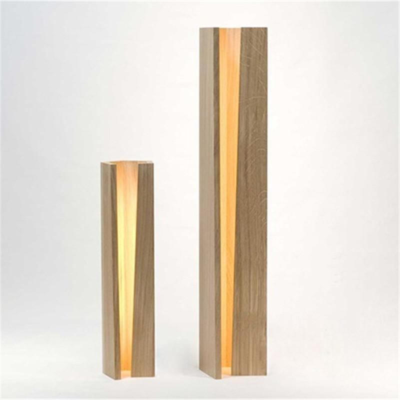 Modern Wood Slit Table Lamp Gifts For Designers