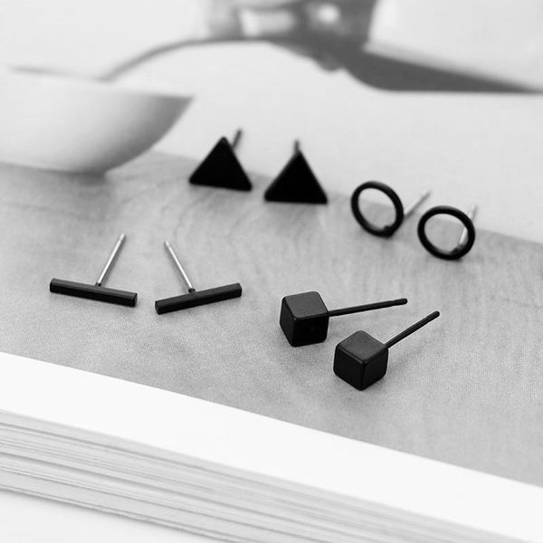 Bauhaus Style Earrings Set of 4, , Gifts for Designers, Clean minimal gifts for designers and creatives, gift, design, designer - Gifts for Designers, Gifts for Architects