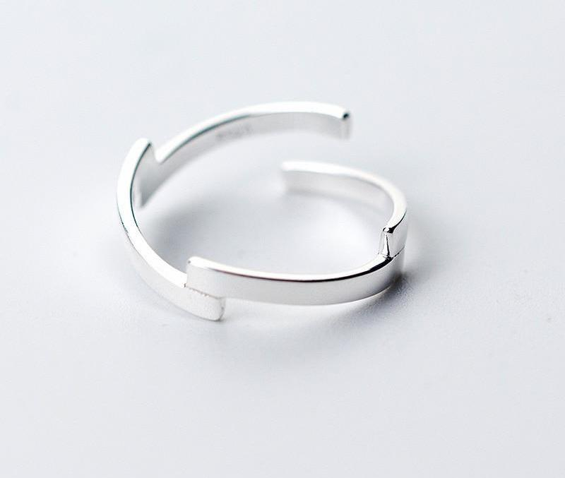 925 Sterling Silver Simple Geometric Open Ring, , Gifts for Designers, Clean minimal gifts for designers and creatives, gift, design, designer - Gifts for Designers, Gifts for Architects