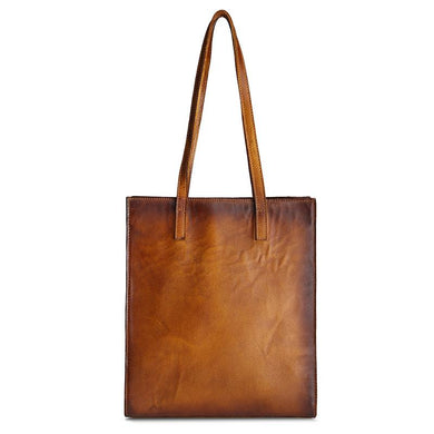 Distressed Genuine Leather Tote Bag, , Gifts for Designers, Clean minimal gifts for designers and creatives, gift, design, designer - Gifts for Designers, Gifts for Architects