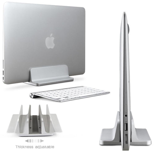 Aluminum Vertical Laptop Stand with Adjustable Thickness, , Gifts for Designers, Clean minimal gifts for designers and creatives, gift, design, designer - Gifts for Designers, Gifts for Architects