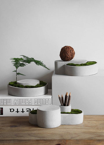 Japanese Desktop Cement Plant Vases and Organizers, , Gifts for Designers, Clean minimal gifts for designers and creatives, gift, design, designer - Gifts for Designers, Gifts for Architects
