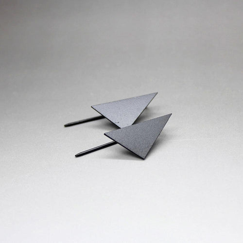 Simple Geometric Triangle Stud Earrings, , Gifts for Designers, Clean minimal gifts for designers and creatives, gift, design, designer - Gifts for Designers, Gifts for Architects