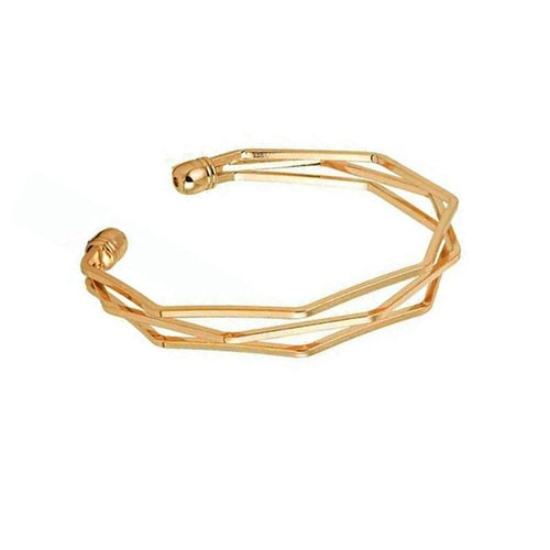 Copper Polygon Bracelet