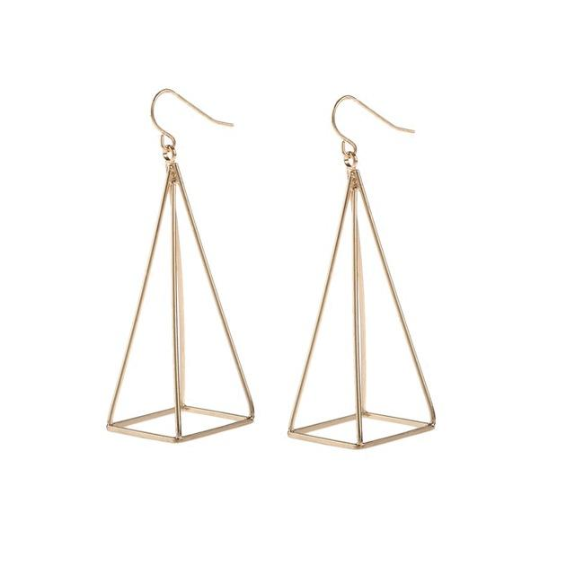 Geometric Pyramid Pendant Earrings, , Gifts for Designers, Clean minimal gifts for designers and creatives, gift, design, designer - Gifts for Designers, Gifts for Architects