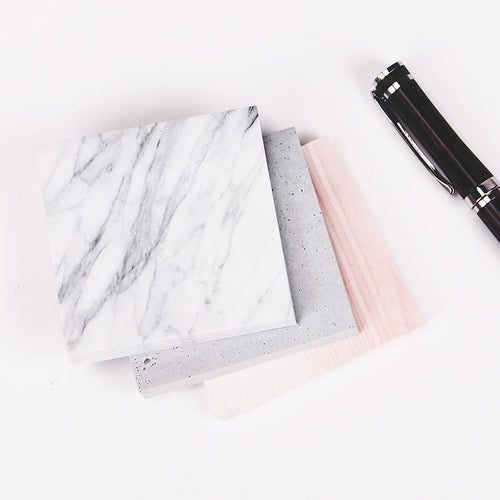 Marble and Cement Colored Sticky Notes