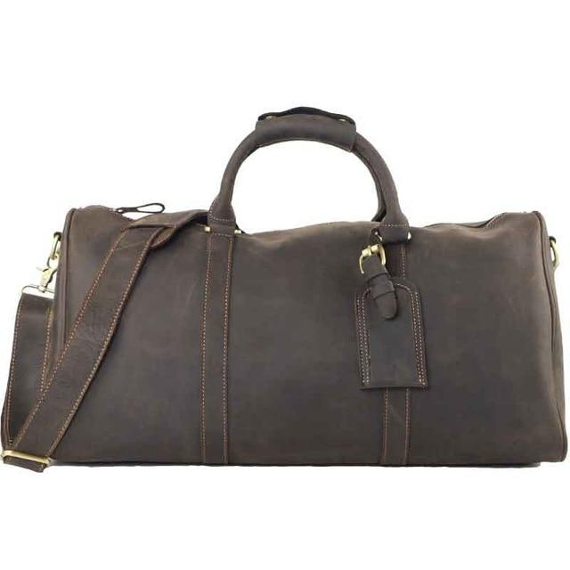 Minimalist Genuine Leather Travel Duffel | Leather Travel Bag, , Gifts for Designers, Clean minimal gifts for designers and creatives, gift, design, designer - Gifts for Designers, Gifts for Architects