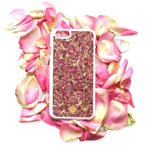 Aromatic Roses Phone Case - Made with Real Organic Handpicked Materials, , Gifts for Designers, Clean minimal gifts for designers and creatives, gift, design, designer - Gifts for Designers, Gifts for Architects