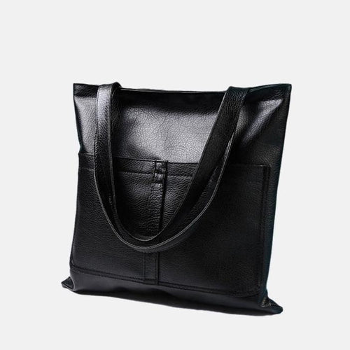 Minimalist PU Leather Shoulder Bag and Tote Bag, , Gifts for Designers, Clean minimal gifts for designers and creatives, gift, design, designer - Gifts for Designers, Gifts for Architects