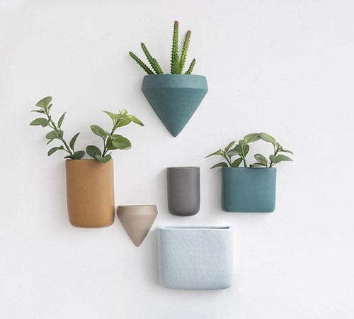 Modern Ceramic Wall Mounted Plant Vases, , Gifts for Designers, Clean minimal gifts for designers and creatives, gift, design, designer - Gifts for Designers, Gifts for Architects