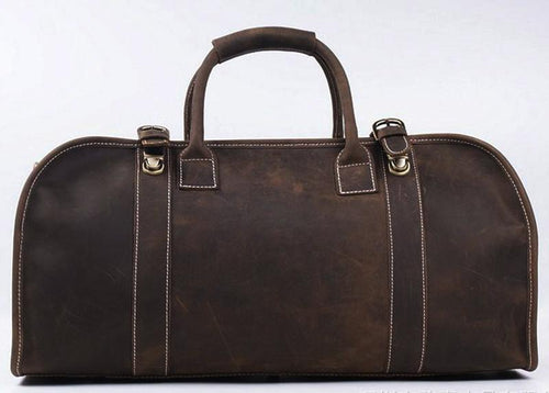 Cowhide Genuine Leather Travel Duffel Bag and Travel Bag