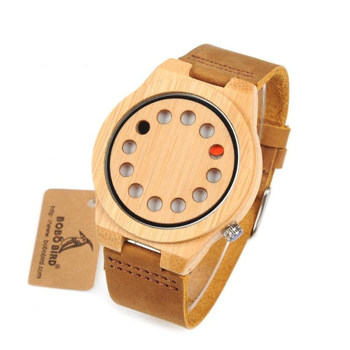 12 Dot Bamboo Wooden Watch