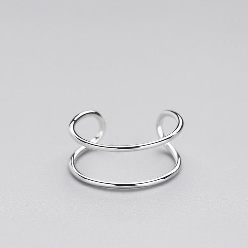 Minimalist Double Loop Ring | 925 Sterling Silver Ring