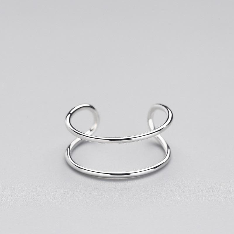 Minimalist Double Loop Ring | 925 Sterling Silver Ring, , Gifts for Designers, Clean minimal gifts for designers and creatives, gift, design, designer - Gifts for Designers, Gifts for Architects