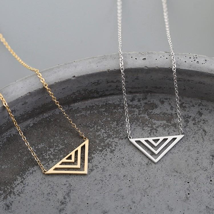 Minimalist Triangle Necklace, , Gifts for Designers, Clean minimal gifts for designers and creatives, gift, design, designer - Gifts for Designers, Gifts for Architects