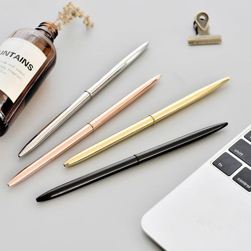 0.7mm Metal Gold Silver Ballpoint Pens