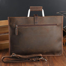 Data Portfolio work bag Crazy Horse Cow Real Leather Briefcase Men's Single Shoulder Bag Business Attache Case Thin File Package, , Gifts for Designers, Clean minimal gifts for designers and creatives, gift, design, designer - Gifts for Designers, Gifts for Architects
