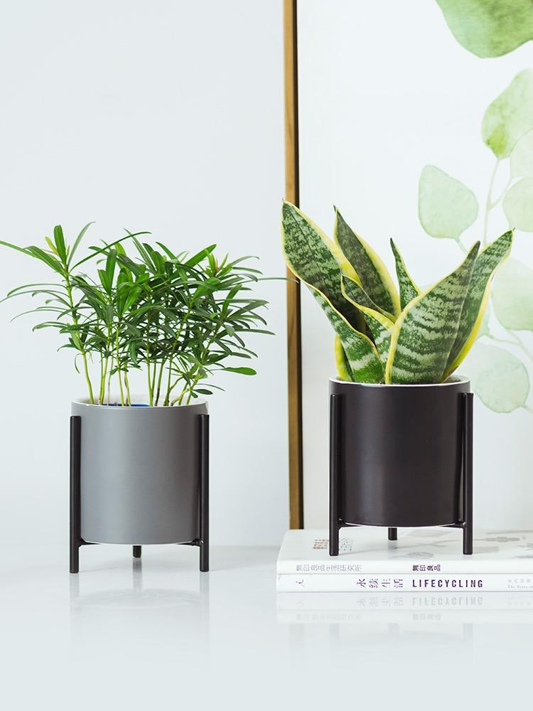 ... Simple Wrought Iron Ceramic Minimalist Flower Pots  Gifts for Designers Clean minimal gifts ... & Simple Wrought Iron Ceramic Minimalist Flower Pots \u2013 Gifts for Designers