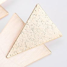 Geometric Double Solid Triangle Earrings, , Gifts for Designers, Clean minimal gifts for designers and creatives, gift, design, designer - Gifts for Designers, Gifts for Architects