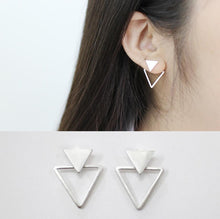 925 Sterling Silver Matte Triangle Stud Earrings, , Gifts for Designers, Clean minimal gifts for designers and creatives, gift, design, designer - Gifts for Designers, Gifts for Architects