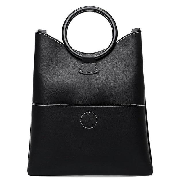 Minimalist Geometric PU Leather Handbag | Designer Leather Handbag, , Gifts for Designers, Clean minimal gifts for designers and creatives, gift, design, designer - Gifts for Designers, Gifts for Architects